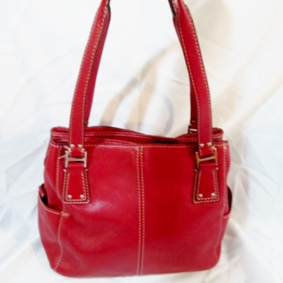 Fossil Handbags - FOSSIL leather satchel tote bowler purse carryall
